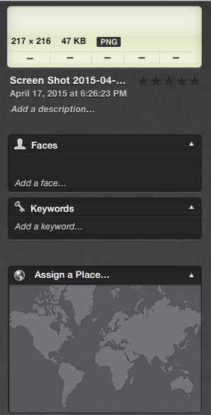 iPhoto's Info Window