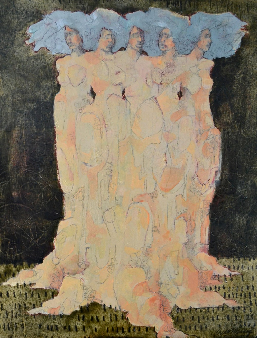 a grove of five women
