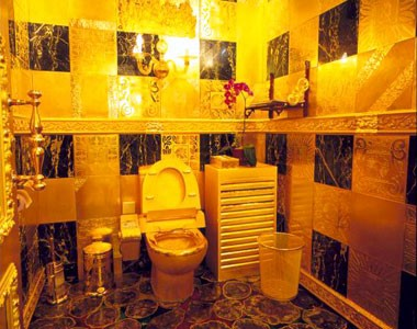 toilet made of gold.  spoiler alert that although Lord Tywin Lannister did not in the end poop gold I felt his toilet definitely could have been made of Coolest Bathrooms 6 Hang Fu Gold Technology Visionstate Inc