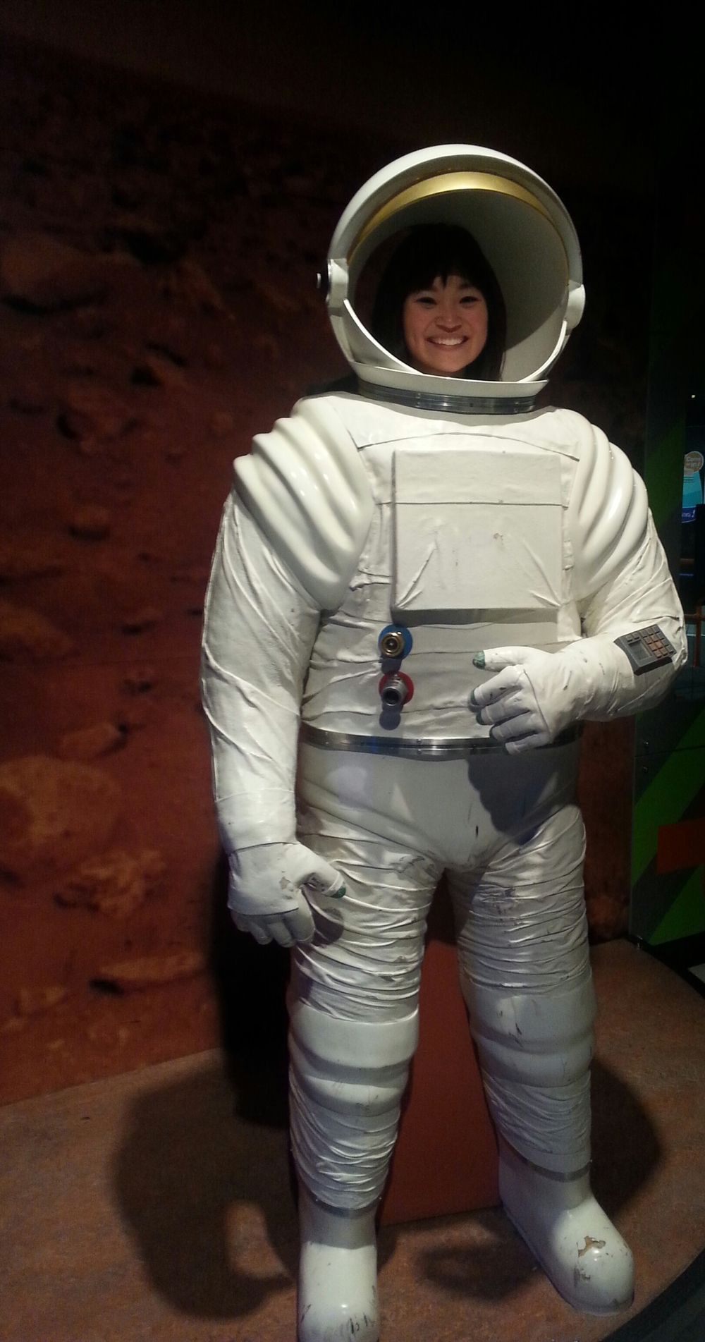 Picture taken at the Telus World of Science in Edmonton, AB.  Not sure if I could be an astronaut!