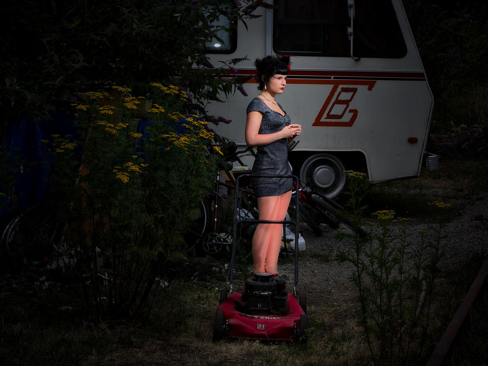 Brunette Outside w Lawnmower.jpg