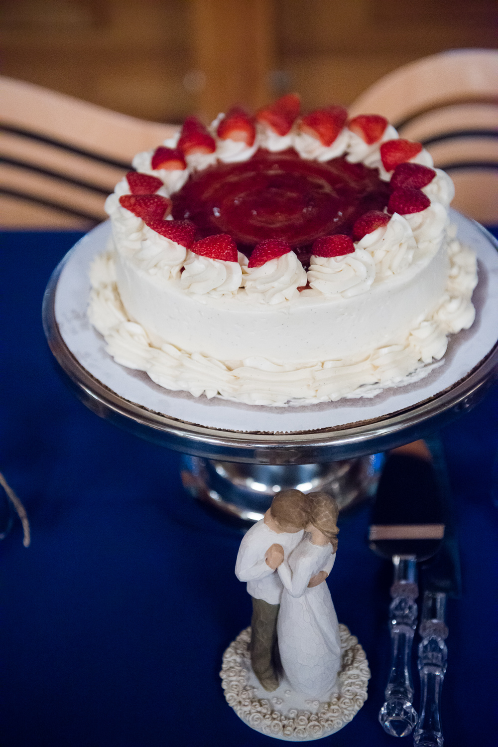 The Couple's Strawberry Vanilla Wedding Cake