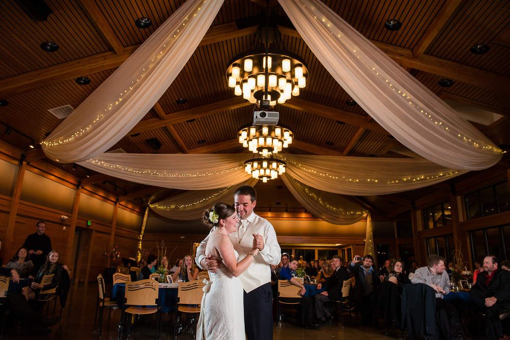 Nate and Lauren's First Dance at Silverwood Park's Great Hall
