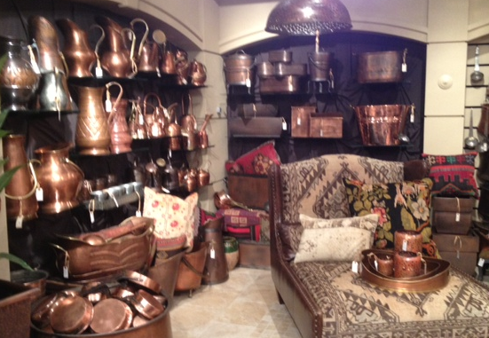 Great collections of copper ware