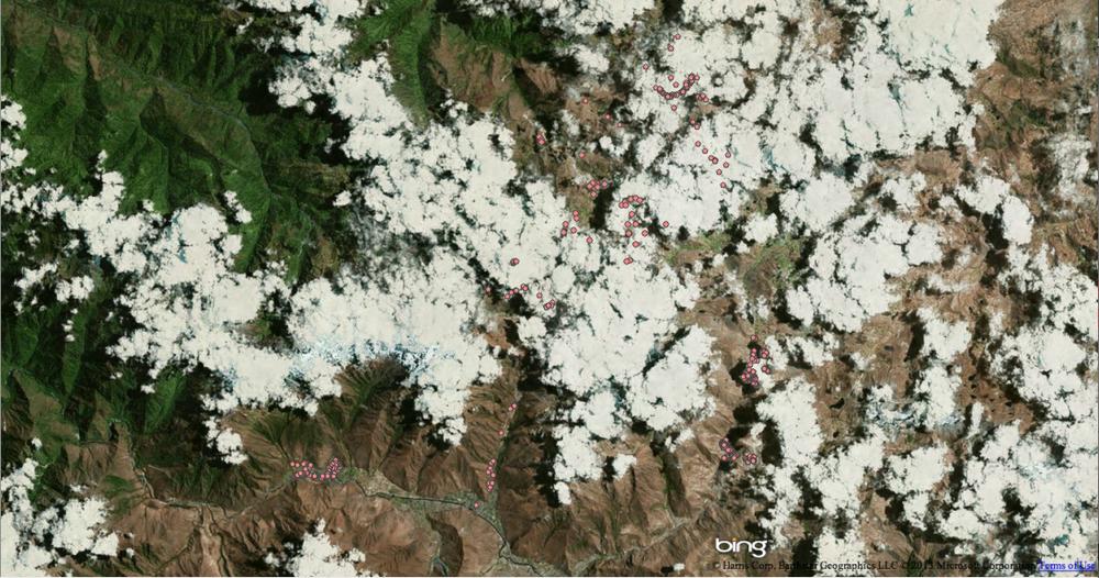 Bing satellite imagery