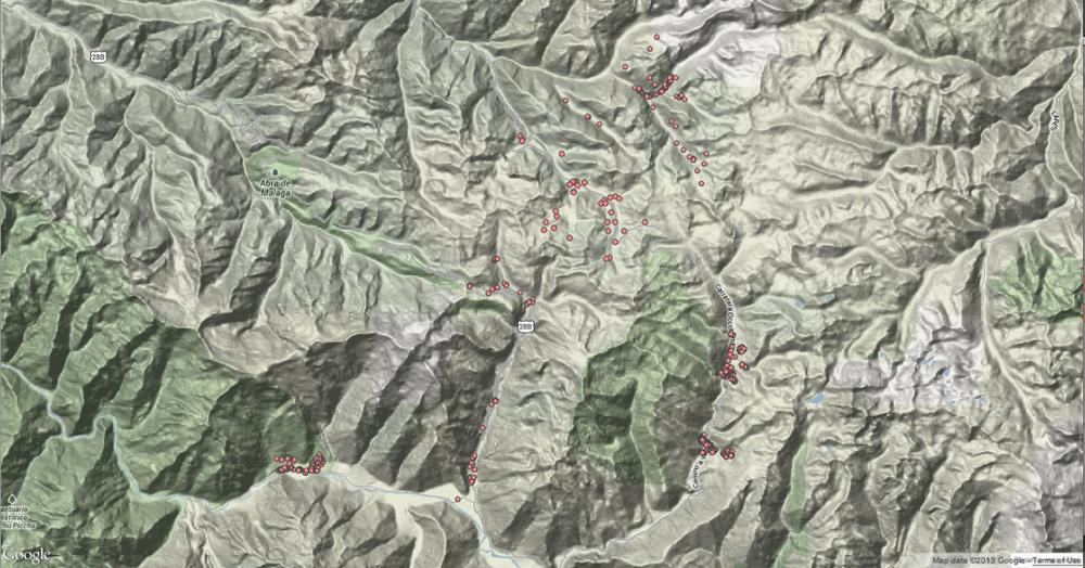 Google topographic map