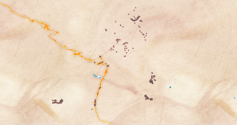 Stamen watercolor map