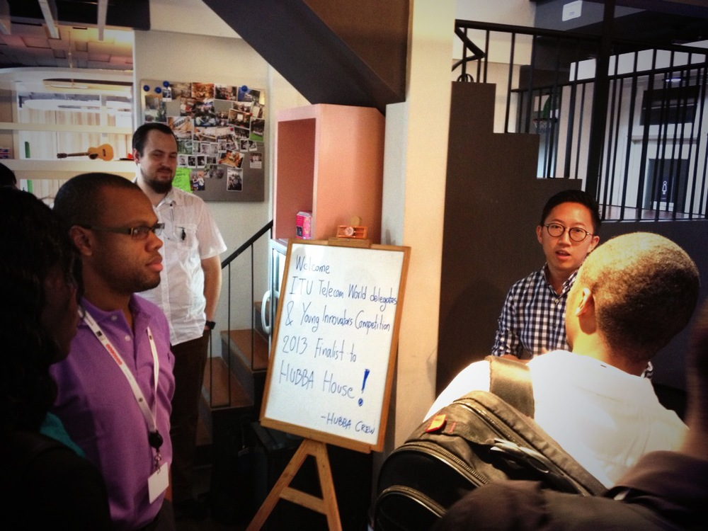 Our group visit to the Hubba coworking space in Bangkok