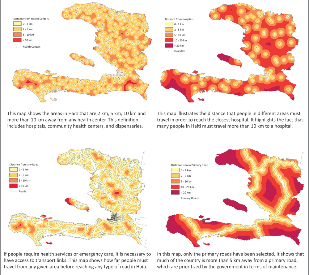 Haiti Infrastructure Analysis Series, 2011. [source, The Haiti Earthquake Data Portal; ArcGIS online]