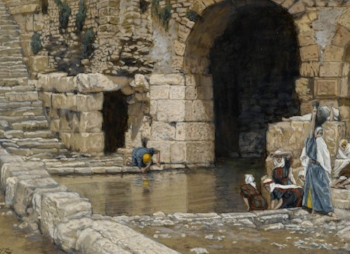 The Blind Man Washes in the Pool of Siloam by James Tissot