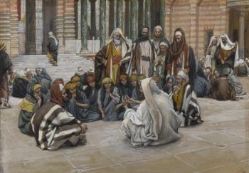 Jesus Teaches in the Temple , by James Tissot
