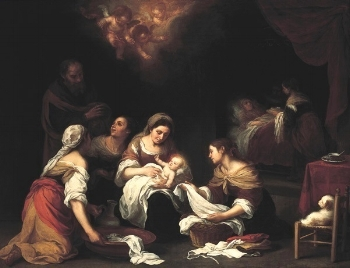 The Birth of St. John the Baptist,  by Bartolome'-Esteban Murillo