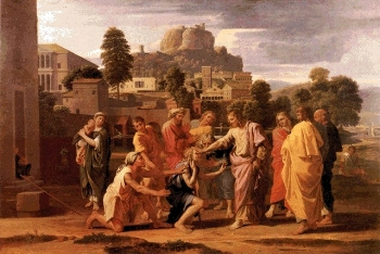 The Healing of the Blind Man of Jericho  by Nicholas Poussin