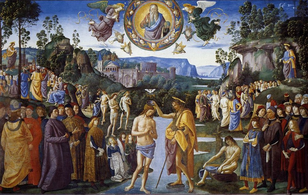 Pietro Perugino,  The Baptism of Christ