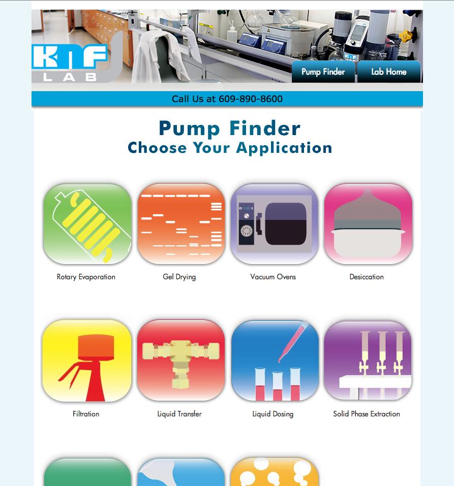 KNF Pump FInder