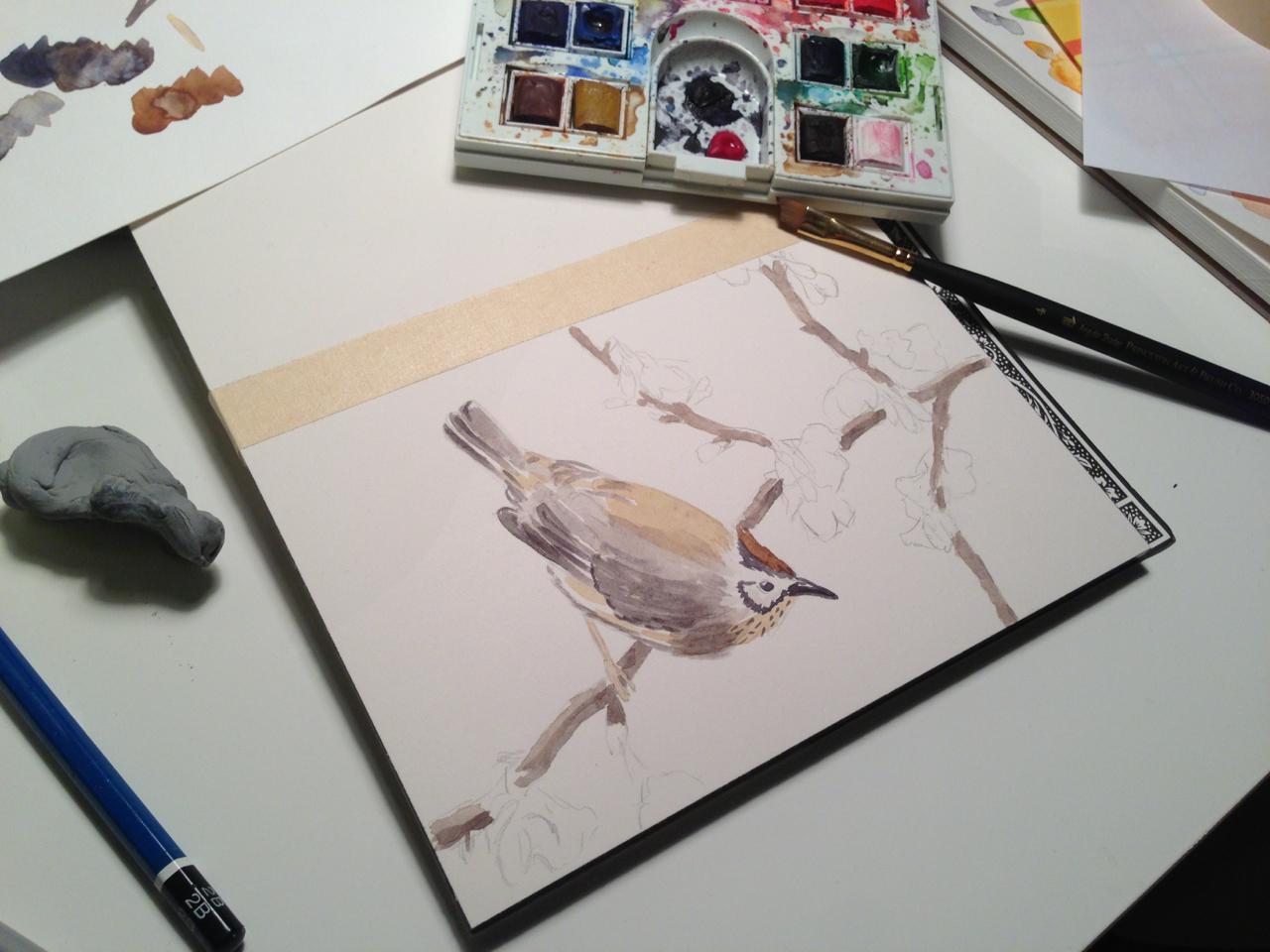 In progress… Illustration Friday, Wings.