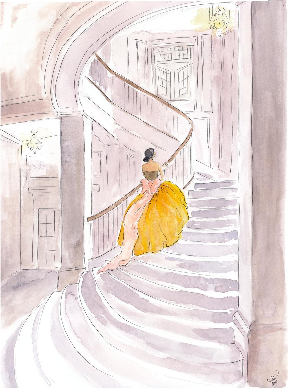 Drawing Sarah | Oscar de la Renta gown