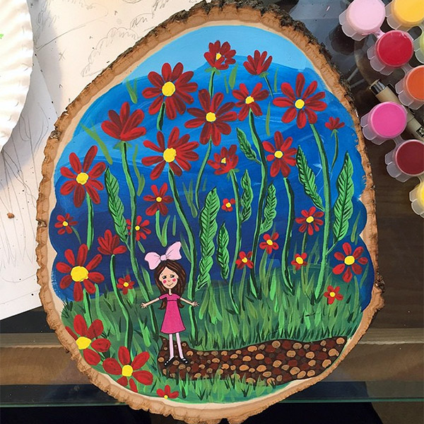 44/365 – Acrylic on wood. This little girl is for the Make Art That Sells bootcamp (post coming eventually).