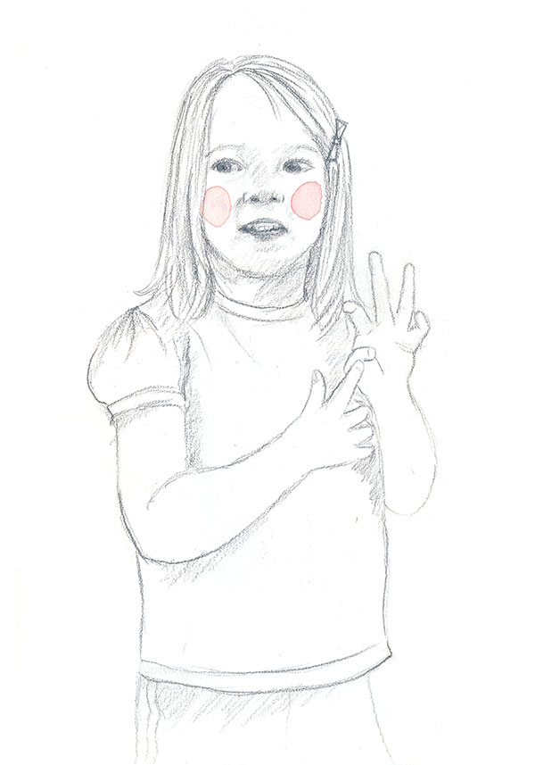 98/365 – This cutie is the daughter of a dear friend. Of course, she needed some rosy cheeks!