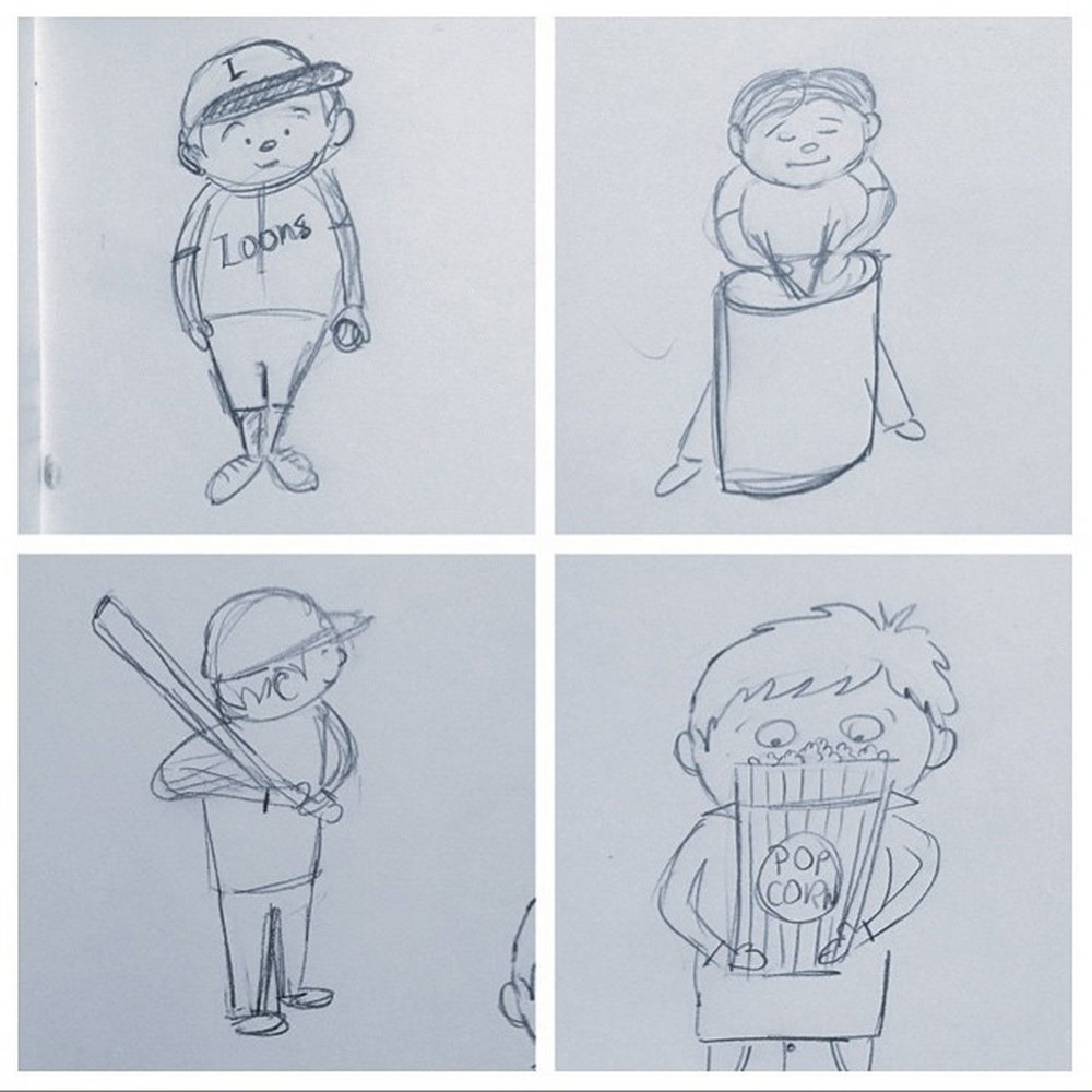 157/365 - sketches at a baseball game
