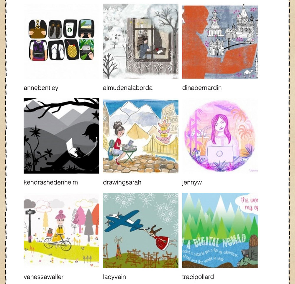 drawingsarah.com | Make Art That Sells Bootcamp - June Gallery