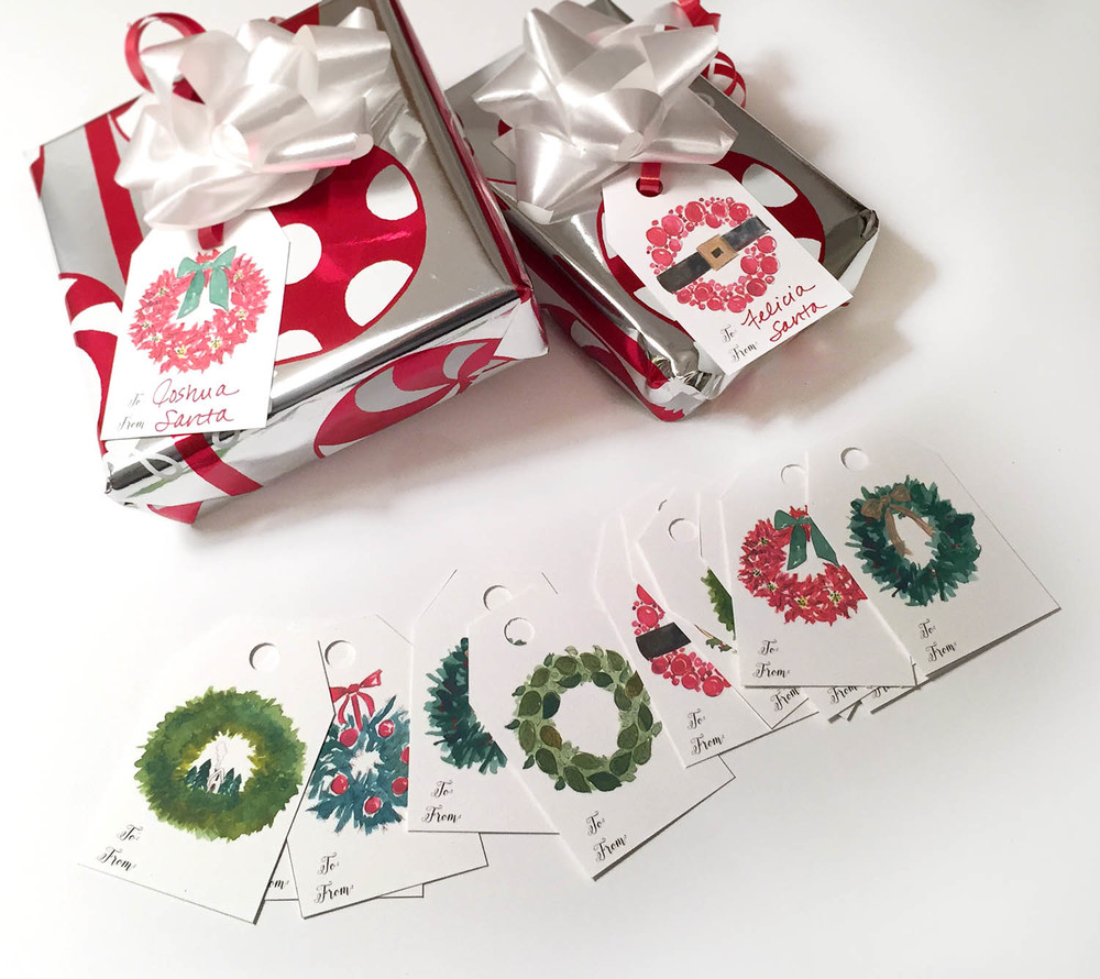 drawingsarah.com | Christmas tags