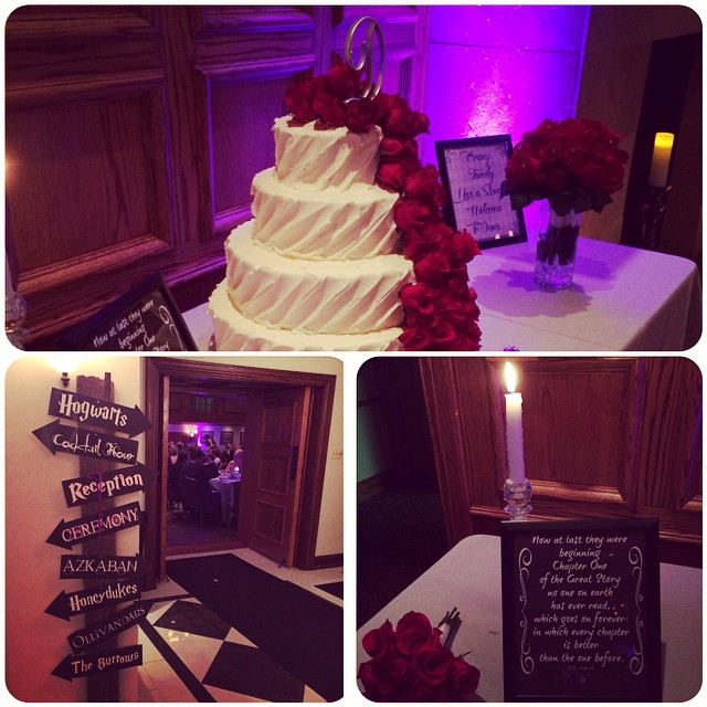 Last night's wedding was a great time. Congrats Matt and Krista! #mycsevent