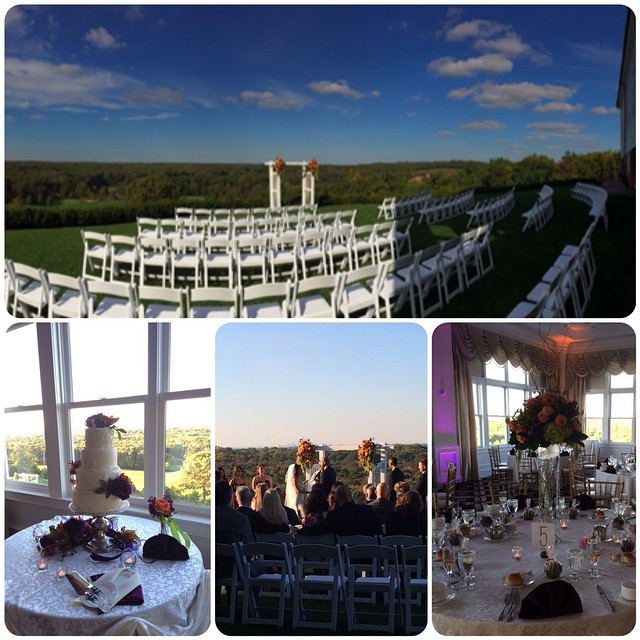 Beautiful day for a wedding on this crisp autumn Sunday #mycsevent
