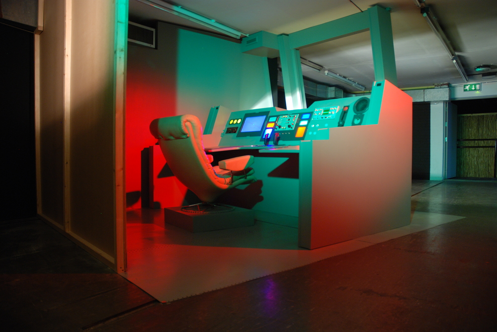 Installation view of the Starship Bridge