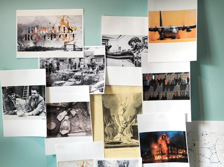Image: David Blandy, studio wall