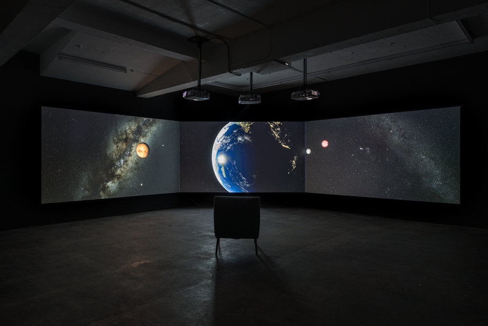 Installation view of End of The World,   David Blandy, 2017 Photo credit: Damian Griffiths