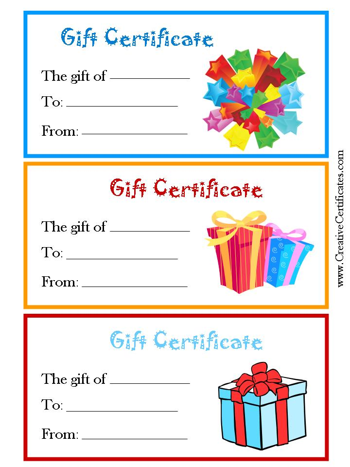 Pricey vs Priceless Gifts organized by choice – Printable Christmas Gift Certificates Templates Free