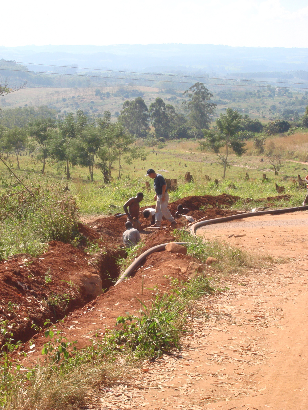 Pipeline install for Malamulo Hospital, Thyolo, Malawi.