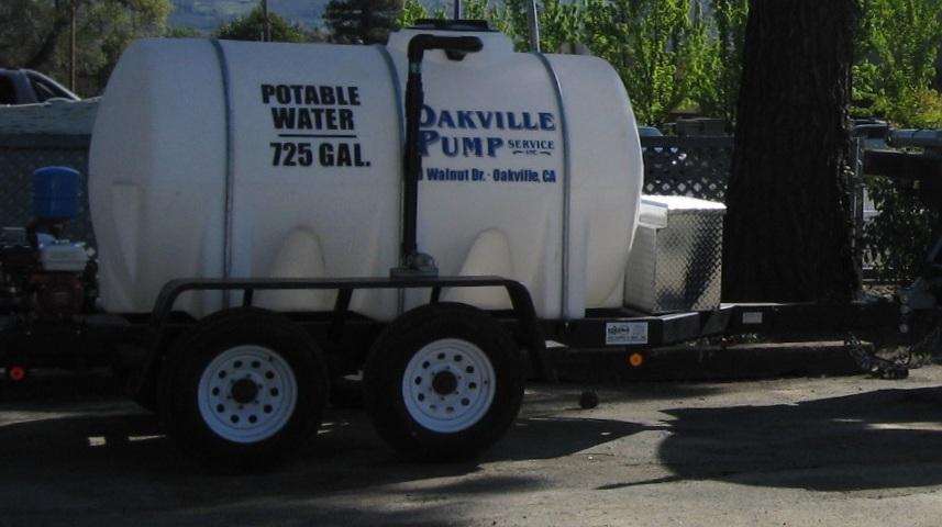 725 Gallon Potable Water Trailer