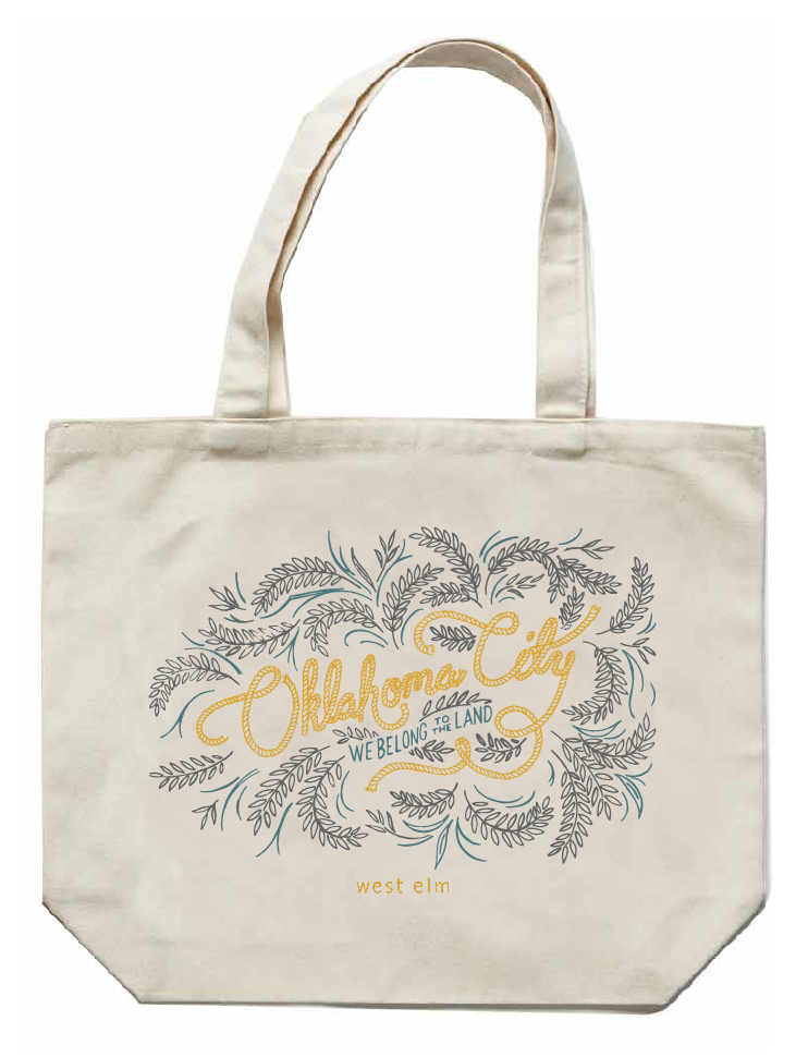 OKC tote designed by Wednesday for West Elm