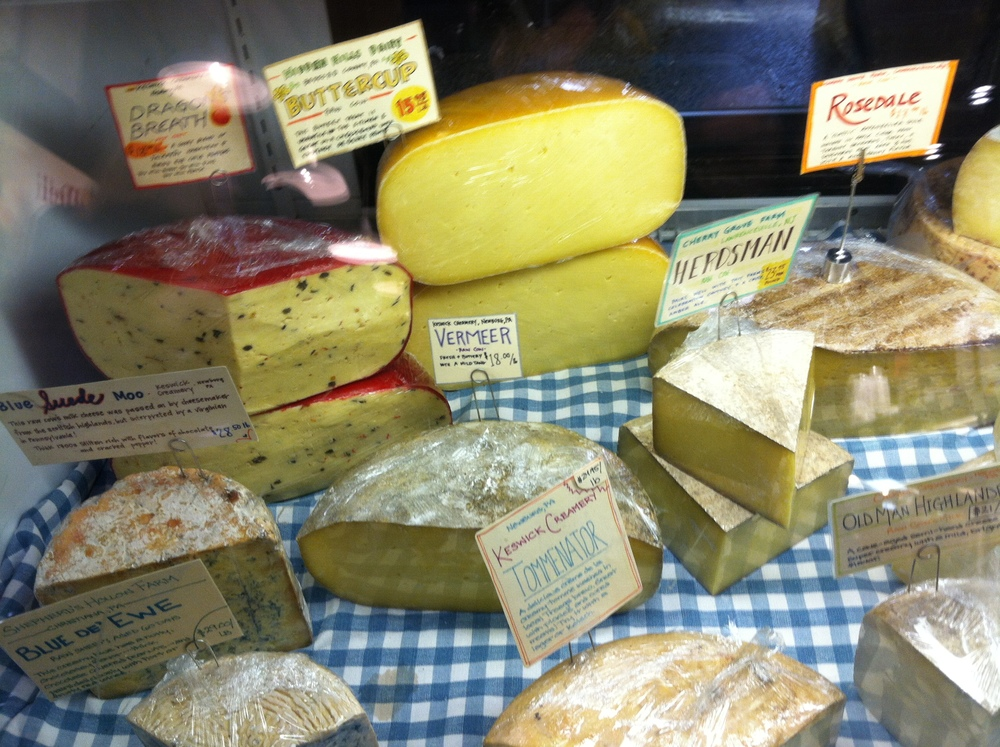 Cheese case at Fair Foods Philadelphia