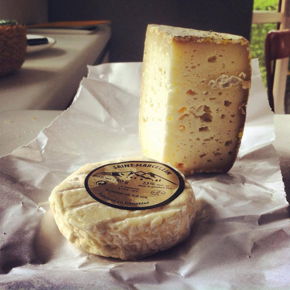 Saint Marcellin a Bloomy Rind Cheese & Tomme in Lyon France
