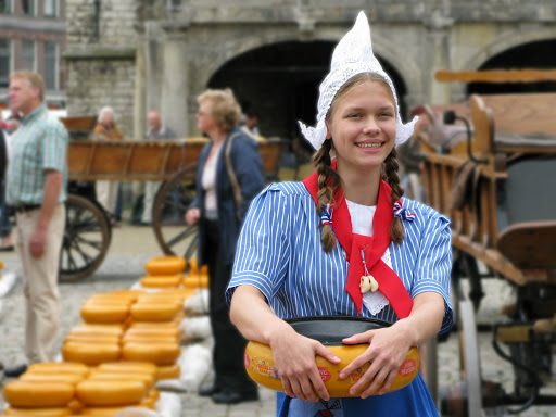 A cheese maiden in South Holland
