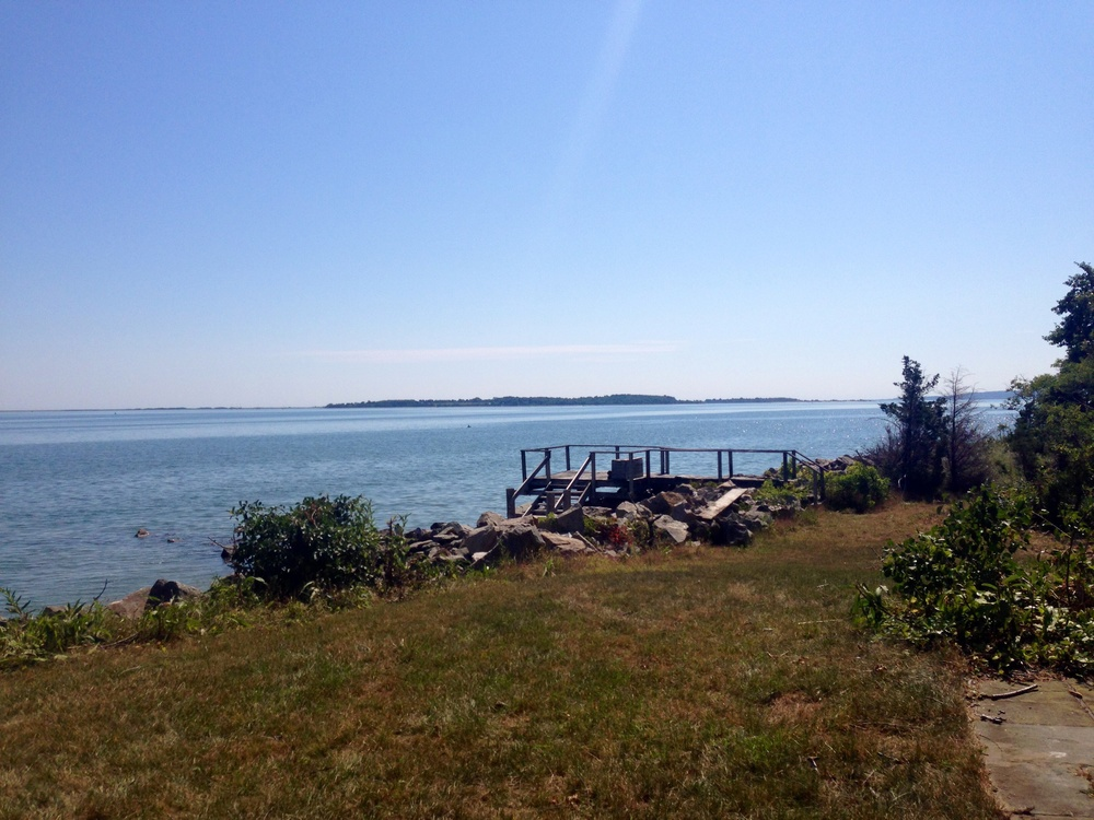 The view of Plymouth Rock- Duxbury Massachusetts