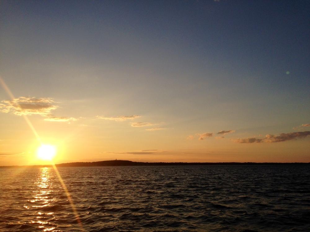 The sunset on Duxbury Bay-Duxbury Massachusetts
