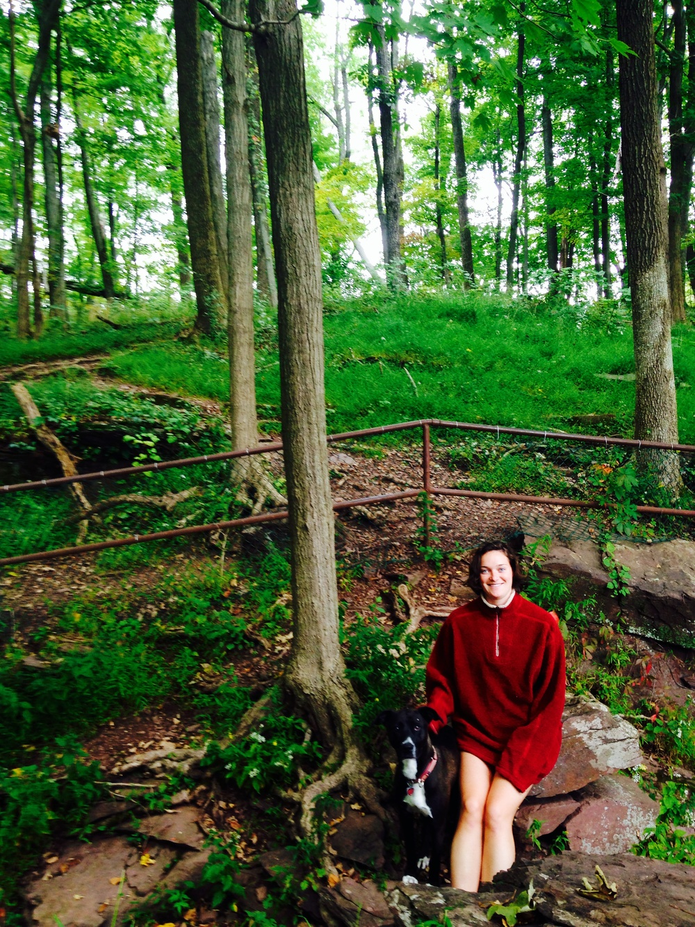 Marta and zLil' Bit at Ralph Stover State Park in Pennsylvania