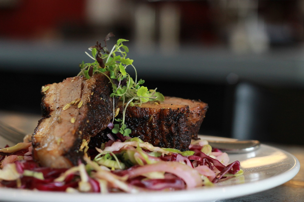 Coffee Rubbed Pork Belly Photo by Justin Rouhier