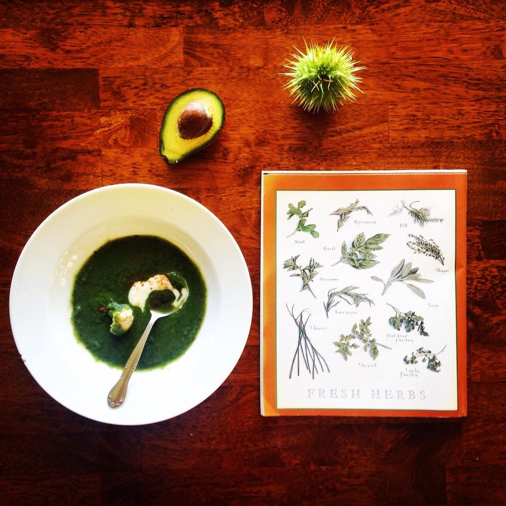 Deanna's Nettle Cauliflower Soup