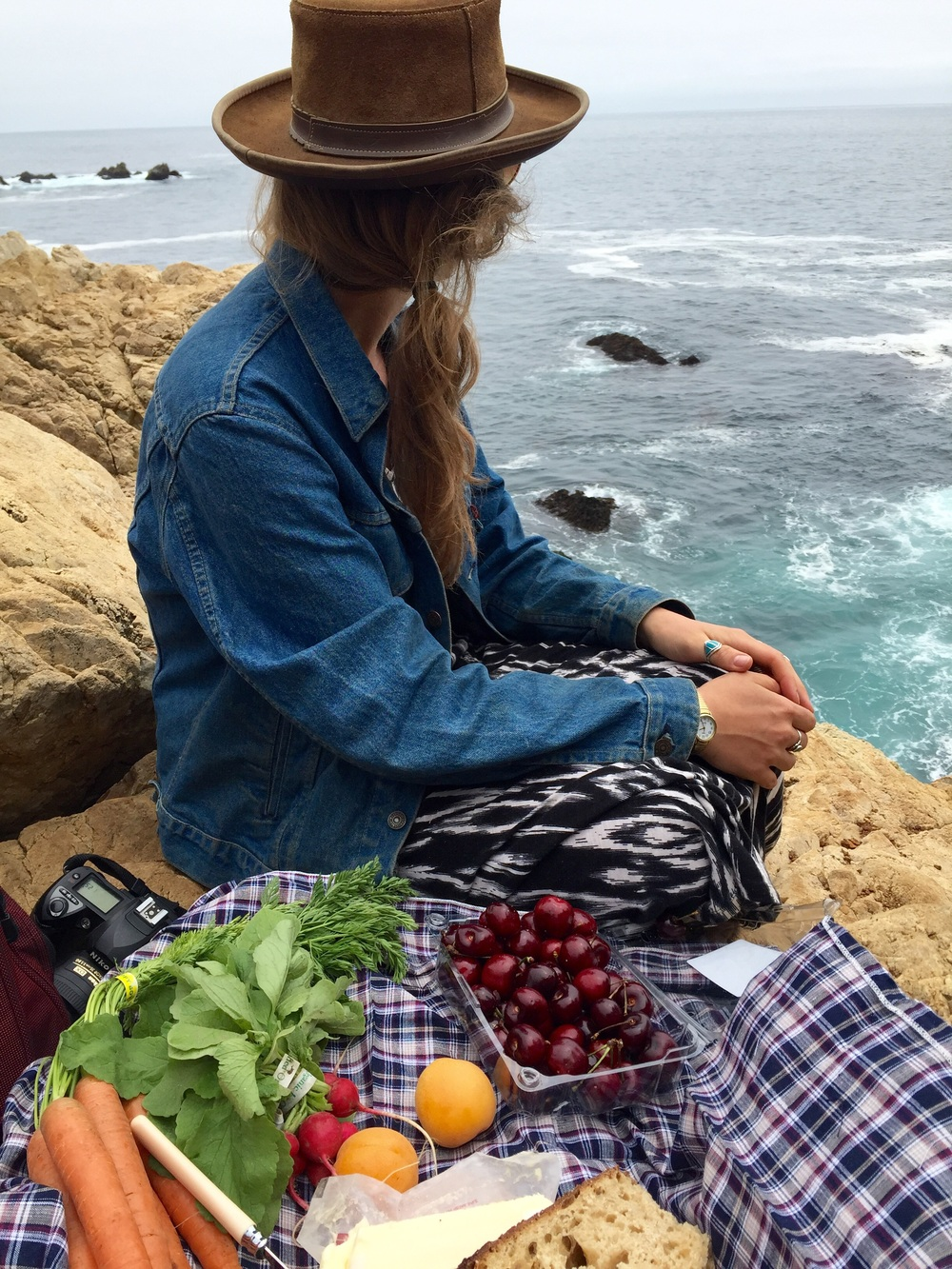 Picnicking in Big Sur, California