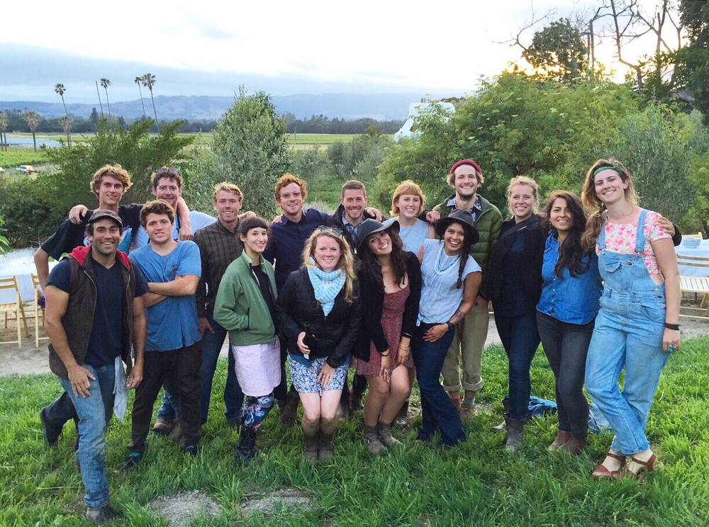 The Farm Dinner Gang at Scribe Winery in Sonoma, California