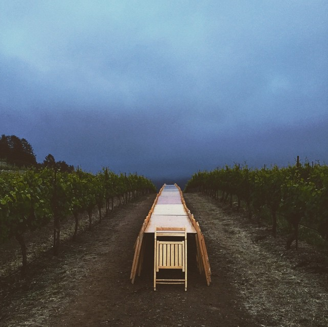 Putting the Table to Sleep at Devil's Gulch Ranch in Nicasio, Califonria