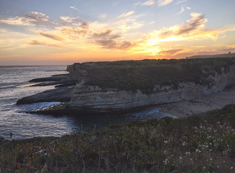 Wilder Ranch State Park at sunset in Santa Cruz, California
