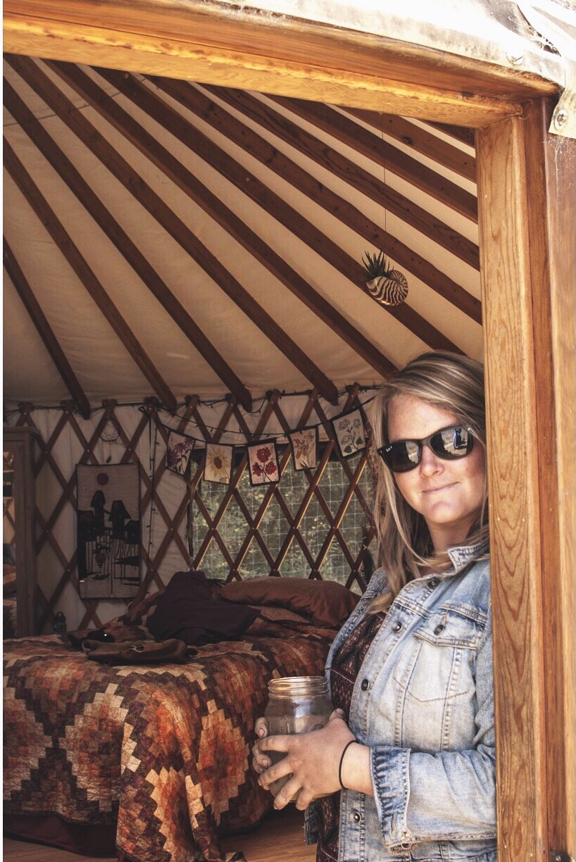 Yurt Goddess Emily Parsons of Everett Family Farm in Soquel, California