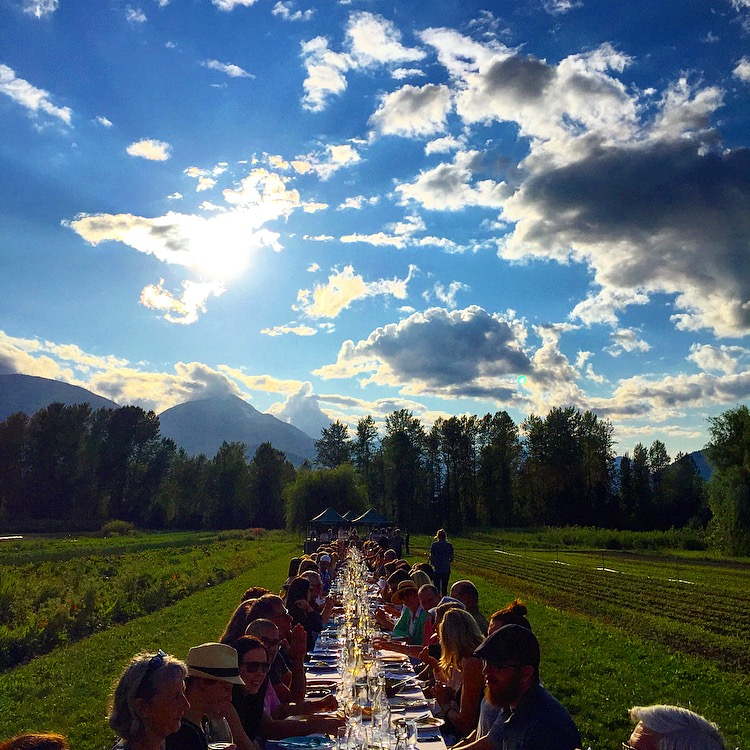 The Table at North Arm Farm in Pemberton, British Columbia