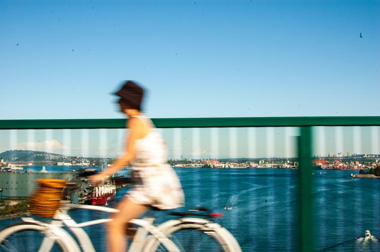 Biker in Vancouver, BC